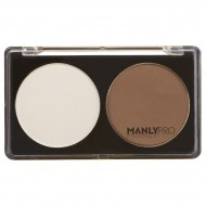 Палитра сухих корректоров 2 цвета белый + холодно-коричневый Manly Pro П06: фото