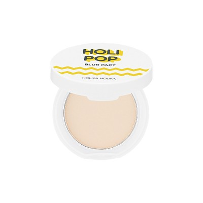Пудра прессованная Holipop Blur pact Holika Holika, тон 01, светло-бежевый: фото