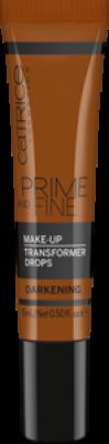 Корректор цвета тональной основы Prime And Fine Make Up Transformer Drops - darkening темный: фото