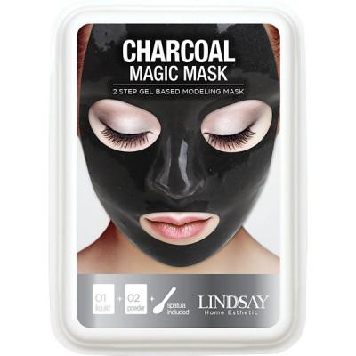 Альгинатная маска с углем на гелевой основе LINDSAY Luxury charcoal magic mask cup pack 120 г: фото