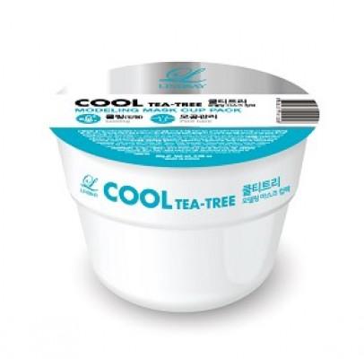 Альгинатная маска с чайным деревом LINDSAY Cool tea-tree modeling mask cup pack 28 г.: фото