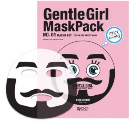 Успокаивающая маска SNP Gentle girl macho boy soothing mask: фото