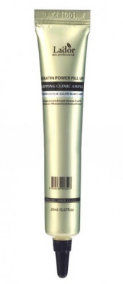 Сыворотка ночная восстанавливающая для волос LA'DOR Keratin power fill up sleeping clinic ample 20мл: фото