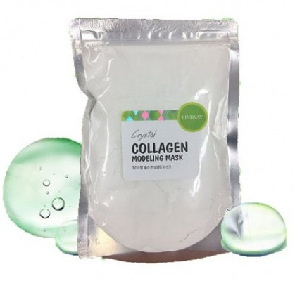 Альгинатная маска с коллагеном LINDSAY Premium Collagen Modeling Mask Pack Zipper 240г: фото