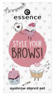 Набор трафаретов для бровей ЕSSENCE style your brows! eyebrow stencil set 01: фото