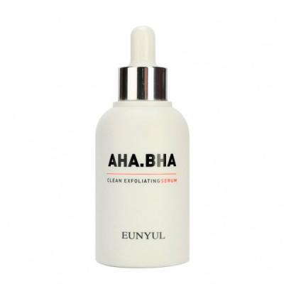 Сыворотка обновляющая с AHA и BHA кислотами для чистой кожи EUNYUL AHA.BHA CLEAN EXFOLIATING SERUM 50мл: фото