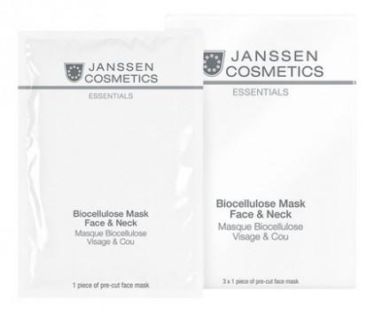 Маска-лифтинг интенсивно увлажняющая для лица и шеи с голубикой Janssen Cosmetics Biocellulose Mask Face & Neck 1шт: фото