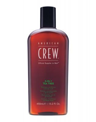 Средство для волос 3в1 чайное дерево American Crew 3in1 TEA TREE 450мл: фото