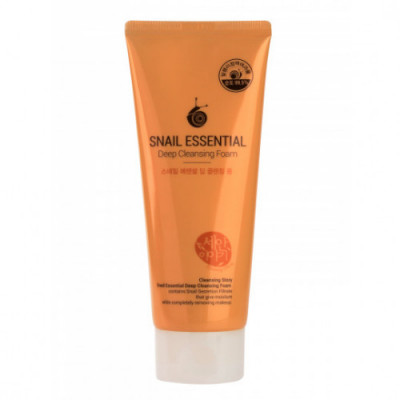 Пенка для умывания Welcos Snail Essential Deep Cleansing Foam: фото