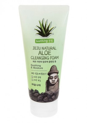 Пенка для умывания Welcos Jeju Natural Aloe Cleansing Foam 120г: фото