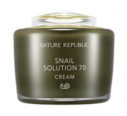 Крем для лица с улиточным экстрактом NATURE REPUBLIC Snail Solution Cream 55мл: фото