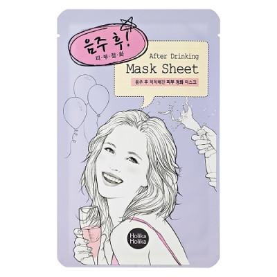 Маска тканевая для лица, Holika Holika After Mask Sheet-After Drinking - После вечеринки, 16 мл: фото