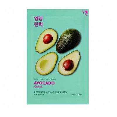 Маска тканевая смягчающая Holika Holika Pure Essence Mask Sheet Avocado, авокадо 20 мл: фото