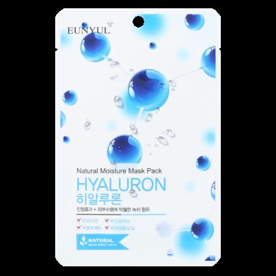 Тканевая маска с гиалуроновой кислотой EUNYUL NATURAL MOISTURE MASK PACK HYALURON 22мл: фото