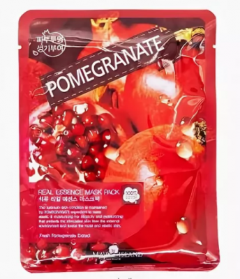 Маска тканевая с гранатом May Island Real Essence Pomegranate Mask Pack 25мл: фото