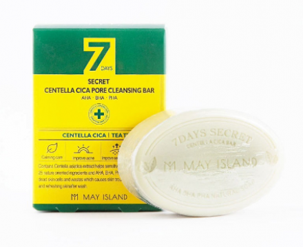 Мыло для проблемной кожи May Island 7Days Secret Centella Cica Pore Cleansing Bar 100г: фото