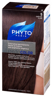 Краска для волос Phytosolba Phyto COLOR 5 Светлый Шатен СДВОЙКА 2*0/40/12 мл: фото