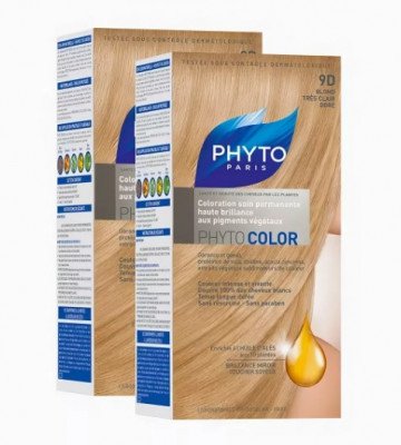 Краска для волос Phytosolba Phyto COLOR 9D Очень светлый Золотистый Блонд СДВОЙКА: фото