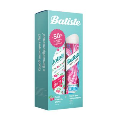 Набор Batiste Stylist: XXL Volume Spray Спрей 200 мл + Cherry Сухой шампунь 200 мл: фото