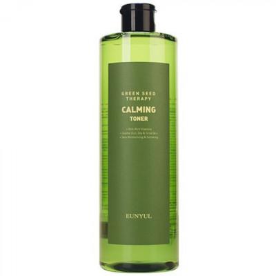 Тонер успокаивающий с экстрактами зеленых плодов Eunyul Green Seed Therapy Calming Toner 500мл: фото