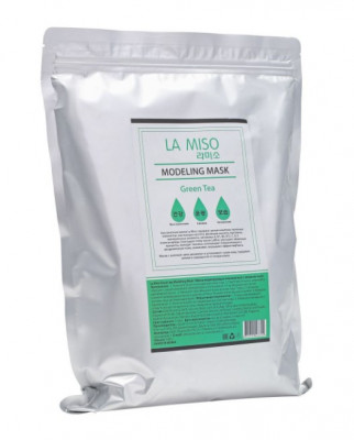 Маска альгинатная с зеленым чаем для чувствительной и проблемной кожи LA MISO Modeling Mask Tea Tree 1000 г: фото