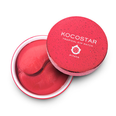 Патчи для глаз гидрогелевые с экстрактом плодов питайи Kocostar Tropical Eye Patch Pitaya 60 шт: фото