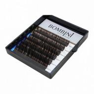 Ресницы Bombini Truffle Темно-коричневые, 6 линий, изгиб C mini-MIX 8-13 0.07: фото