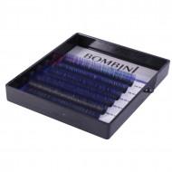 Ресницы Bombini Holi Черно-синие, 6 линий, изгиб C MIX 8-13 0.07: фото