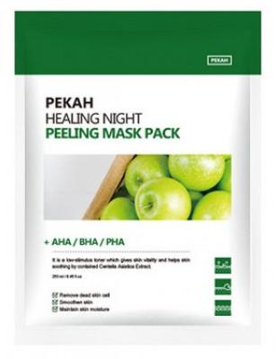 Тканевая маска с AHA-BHA-PHA кислотами PEKAH Healing Night Peeling Mask Pack 25мл*5шт: фото