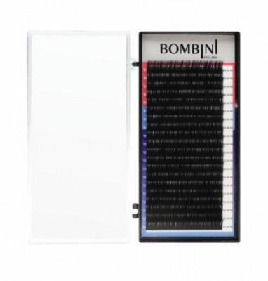Ресницы Bombini Черные, 20 линий, изгиб L+ - MIX 7-14 0.10: фото