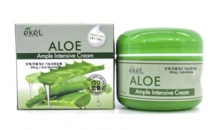 Ампульный крем интенсивно увлажняющий с алоэ EKEL Aloe Ample Intensive Cream 100г: фото