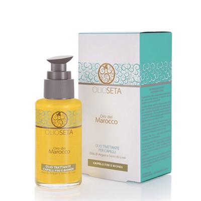 Масло с арганой и семенами льна Блонд-Уход Barex Olioseta Oro del Marocco Oil Treatment Blonde-Fine Hair 100мл: фото