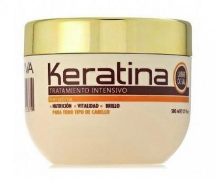 Маска с кератином для поврежденных и хрупких волос Kativa KERATINA 500 мл: фото