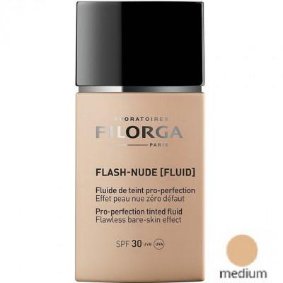 Совершенствующий тональный флюид Медиум Нюд Filorga Flash-Nude Pro-perfection tinted fluid Medium 30мл: фото
