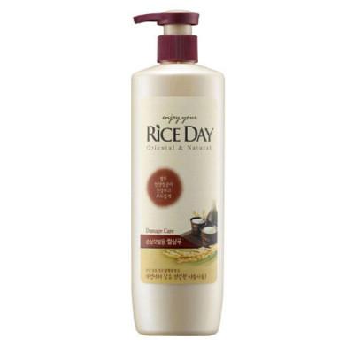 Восстанавливающий шампунь для поврежденных и ослабленных волос LION RICE DAY 550 мл: фото