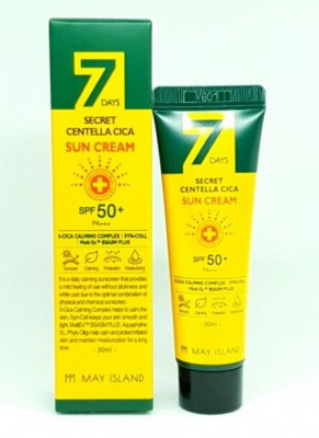 Солнцезащитный крем May island 7Days Secret Centella Cica Sun Cream 30мл: фото
